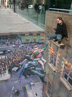 Julian Beever chalk drawing