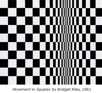 Movement in Squares by Bridget Riley (1961)